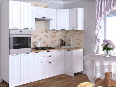 Кухонный гарнитур угловой Белый вегас 1000х2500