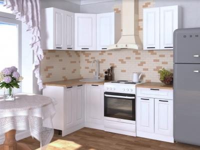 Кухонный гарнитур угловой Белый вегас 1600х1200