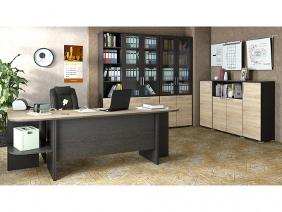Набор мебели для офиса Успех-2 ГН-184.002 Венге Цаво, Дуб Сонома