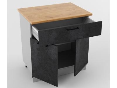 Напольный шкаф Н 800 1 ящик 2 двери 850х800х600 Лофт