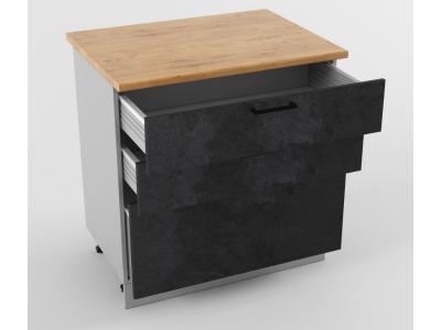 Напольный шкаф Н 800 3 ящика 850х800х600 Лофт