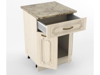 Нижний шкаф Н 600 1 ящик 2 двери 850х600х600 Грецкий орех