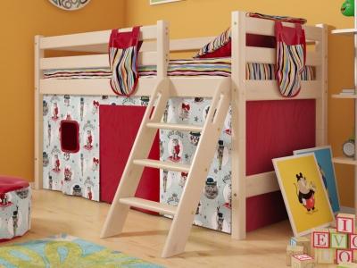 Низкая кровать Соня с наклонной лестницей No 12