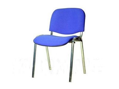 Офисный стул Изо хром ткань синяя
