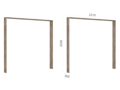 Портал шкафа 5-ти дверного Джулия