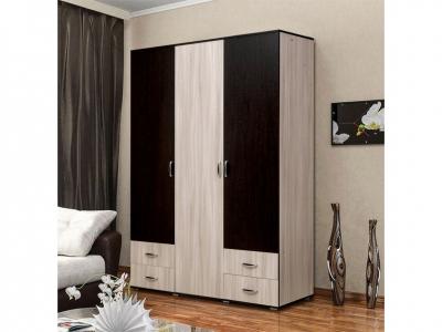 Шкаф 3-х дверный с 4-мя ящиками без зеркала Венеция 10