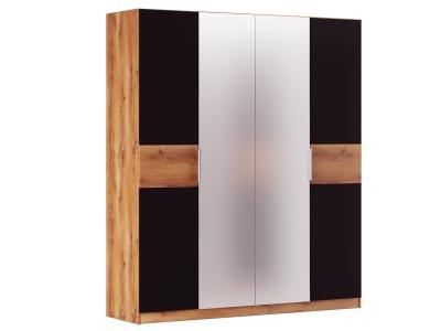 Шкаф 4 двери Рамона Р 1.1.1 Дуб кельтский/Черный
