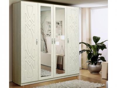 Шкаф 4-х дверный с 2-мя зеркалами Венеция 7.1