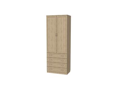 Шкаф для белья со штангой и ящиками артикул 103 дуб сонома