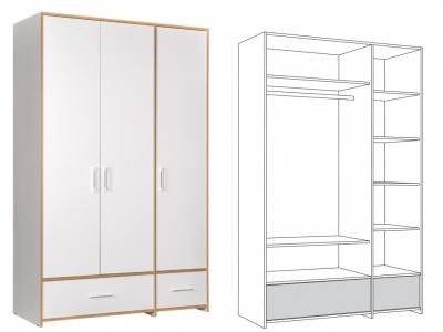 Шкаф для одежды 10.77 Вуди
