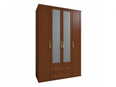 Шкаф для одежды и белья 1 Милана орех 1600х590х2113