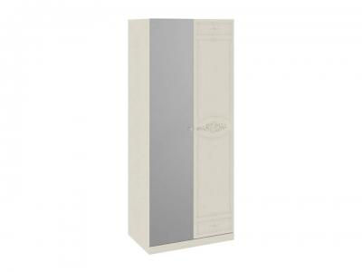 Шкаф для одежды с 1 глух. и 1 зерк. дверями Лорена СМ-254.07.05 Штрихлак