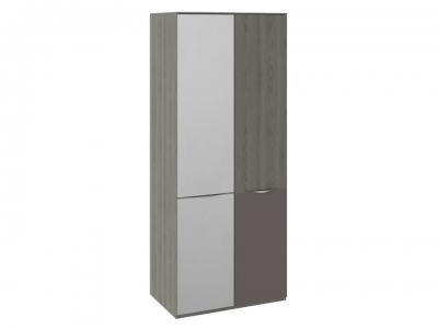 Шкаф для одежды с 1 зерк. дверью и 1 с ЛКП Либерти СМ-297.07.026 Хадсон, Серый
