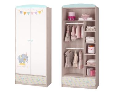 Шкаф для одежды с ящиком Цирк