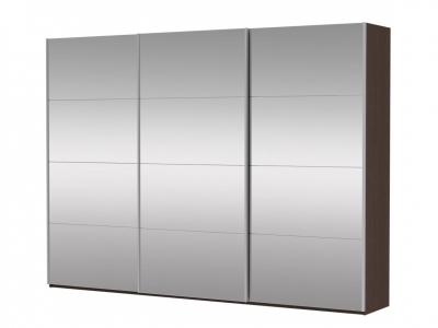 Шкаф-купе 3-х дверный Прайм 3 двери зеркало Венге