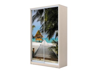 Шкаф-купе Хит 2-х дверный Море Дуб млечный
