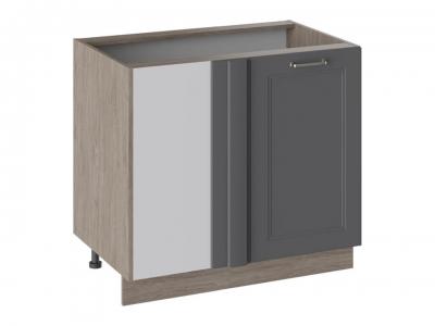 Шкаф напольный с планками для формирования угла Н_72-90_1ДРпУ Одри Серый шелк
