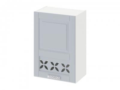 Шкаф навесной c декором левый В_72-50_1ДРД(L) Скай Голубая