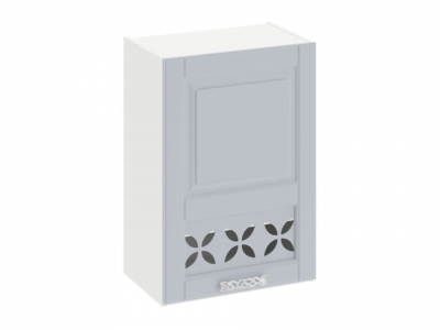 Шкаф навесной c декором правый В_72-50_1ДРД(R) Скай Голубая