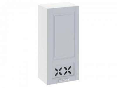 Шкаф навесной c декором правый В_96-45_1ДРД(R) Скай Голубая