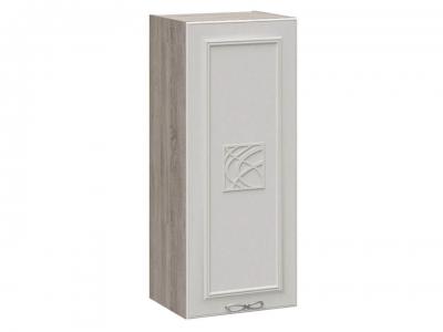Шкаф навесной c декором В_96-40_1ДР(Д) Сабрина