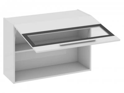 Шкаф навесной со стеклом В_60-90_1ДОс Фэнтези Белый универс