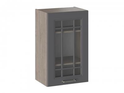 Шкаф навесной со стеклом В_72-45_1ДРс Одри Серый шелк