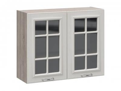 Шкаф навесной со стеклом В_72-90_2ДРс Сабрина