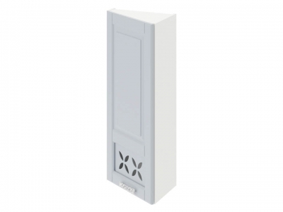 Шкаф навесной торцевой c декором ВТ_96-40(45)_1ДРД(L) Скай Голубая