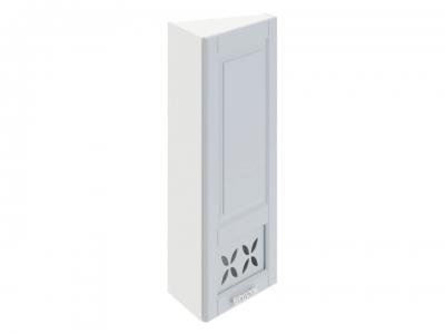 Шкаф навесной торцевой c декором ВТ_96-40(45)_1ДРД(R) Скай Голубая