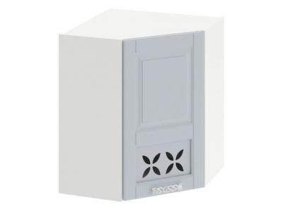 Шкаф навесной угловой 45 с декором ВУ45_72-(40)_1ДРД(R) Скай Голубая