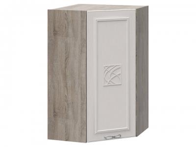 Шкаф навесной угловой 45 с декором ВУ45_96-(40)_1ДР(Д) Сабрина
