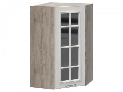 Шкаф навесной угловой 45 со стеклом ВУ45_96-(40)_1ДРс Сабрина