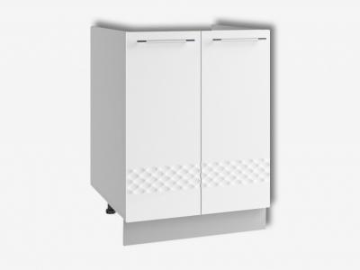 Шкаф нижний 600мм мойка СМ 850х600мм МДФ белый Капля