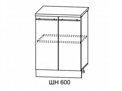 Шкаф нижний 600мм стол рабочий С 850х600мм МДФ сандал б/столешницы Империя