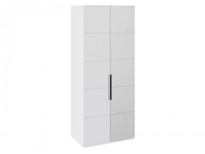Шкаф с 1 глух. и 1 зерк. правой дверями Наоми СМ-208.07.04 R Белый глянец