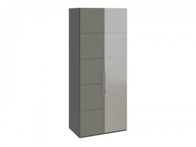 Шкаф с 1 глух. и 1 зерк. правой дверями Наоми СМ-208.07.04 R Серый, Джут