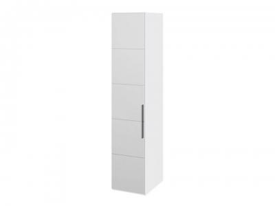 Шкаф с 1 зерк. дверью левый Наоми СМ-208.07.02 L Белый глянец