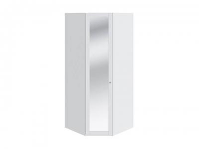 Шкаф угловой с 1 дверью с зеркалом Ривьера СМ 241.07.003 Белый