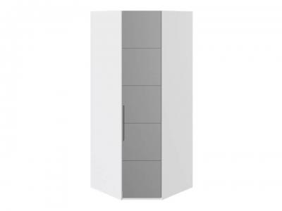 Шкаф угловой с 1 зерк. правой дверью Наоми СМ-208.07.07 R Белый глянец