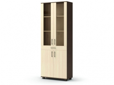 Шкаф-витрина Максим с ящиком Венге - Дуб млечный