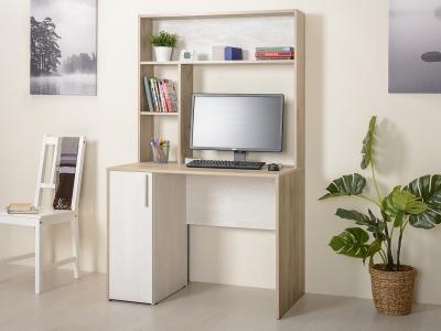Стол компьютерный 12.72 Комфорт Дуб серый, Шелковый камень