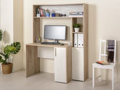 Стол компьютерный 12.74 Комфорт Дуб серый, Шелковый камень