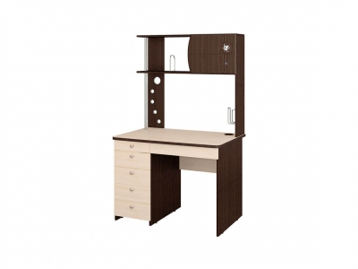 Стол компьютерный Орион-8.10 Венге - Дуб Кобург 1000х700х1700