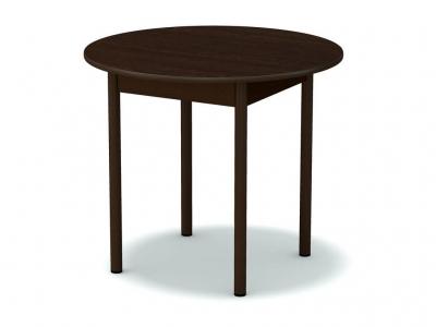 Стол обеденный круглый Венге - ноги коричневые