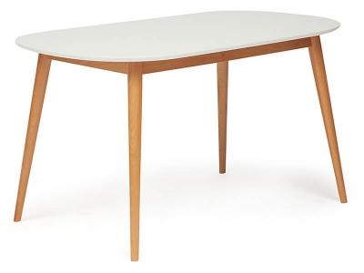 Стол обеденный Max Белый + Натуральный Бук
