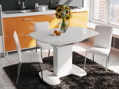 Стол обеденный Портофино СМ(ТД)-105.01.11(1) Белый глянец, стекло