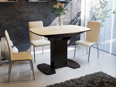 Стол обеденный Портофино СМ(ТД)-105.01.11(1) Венге, стекло
