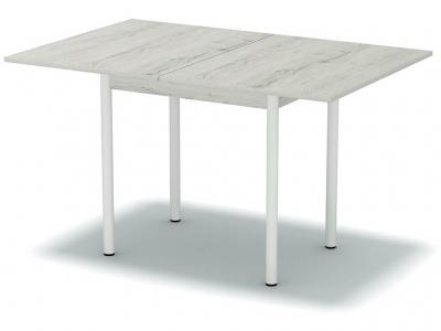 Стол обеденный раскладной Дуб эльза - ноги белые