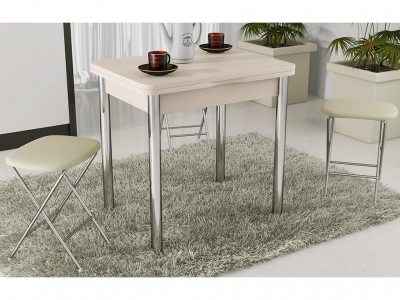 Стол обеденный с хром. ножками Лион СМ-204.02.2 Дуб Белфорт